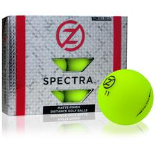 Zero Friction Spectra Matte Neon Green Golf Balls