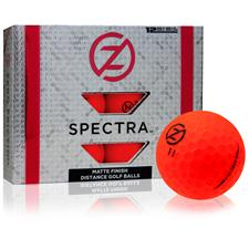 Zero Friction Spectra Matte Neon Red Golf Balls