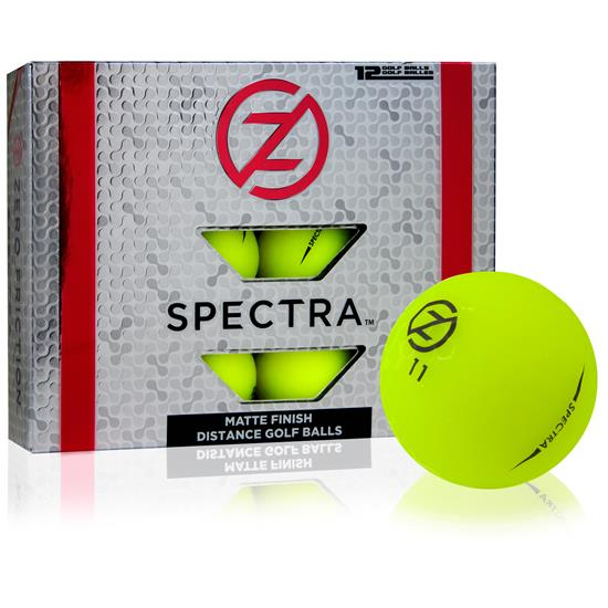 Zero Friction Spectra Matte Neon Yellow Golf Balls