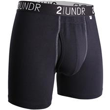 2UNDR Black-Grey Swing Shift Boxer Brief