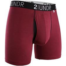 2UNDR Burgundy Swing Shift Boxer Brief