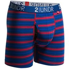 2UNDR Navy-Red Stripes Swing Shift Pattern Boxer Brief