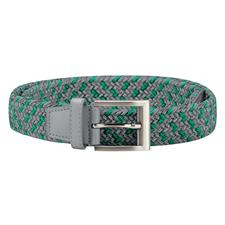 Adidas Braided Weave Stretch Belt - Grey Two-Hi-Res Green - Small/Medium