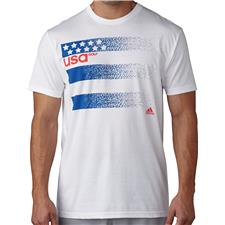 Adidas Men's Team USA 3-Stripe Olympic Tee