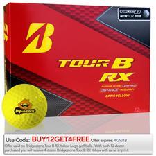 Bridgestone Custom Logo Tour B RX Yellow Golf Balls