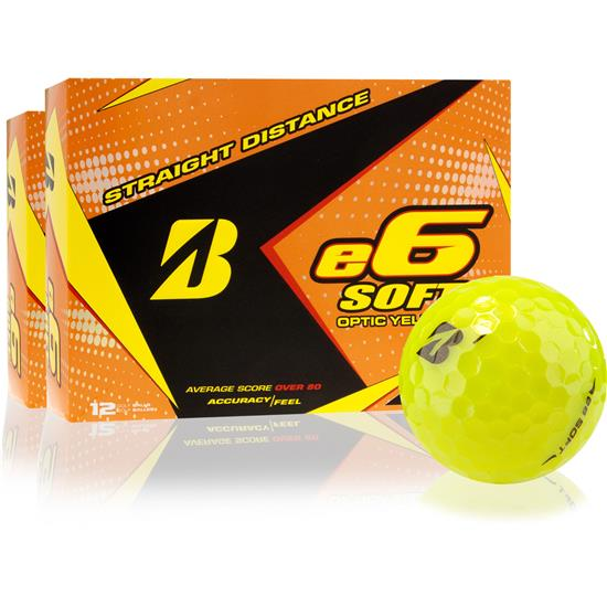 Bridgestone e6 Soft Yellow Golf Balls - 2 Dozen