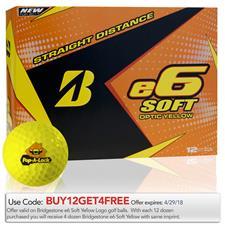 Bridgestone e6 Soft Yellow Custom Logo Golf Balls