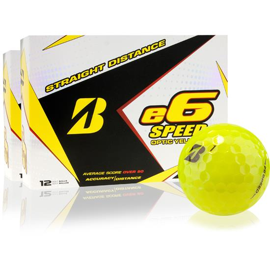 Bridgestone e6 Speed Yellow Golf Balls - 2 Dozen