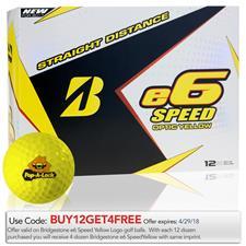 Bridgestone Custom Logo e6 Speed Yellow Golf Balls