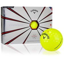 Callaway Golf Custom Logo Chrome Soft X Yellow Golf Balls