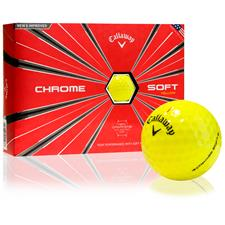 Callaway Golf Chrome Soft Yellow Custom Logo Golf Balls