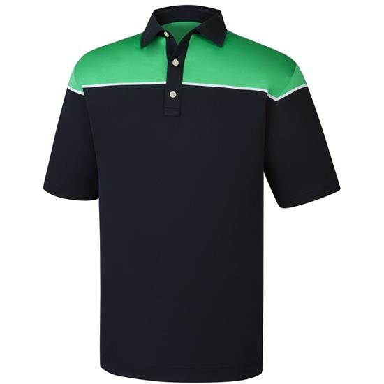 FootJoy Men's Color Block Stretch Pique Self Collar Polo