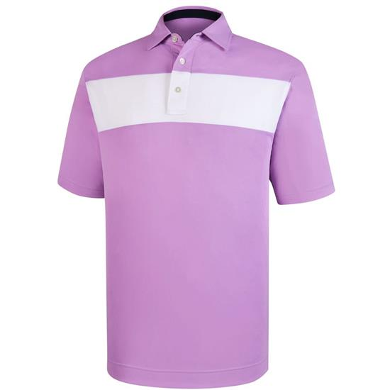 FootJoy Men's Smooth Pique Pieced Stripe Self Collar Polo