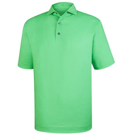 FootJoy Men's Tonal Wave Print Lisle Spread Collar Polo