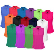 Greg Norman Custom Logo Protek Micro Pique Sleeveless Polo for Women