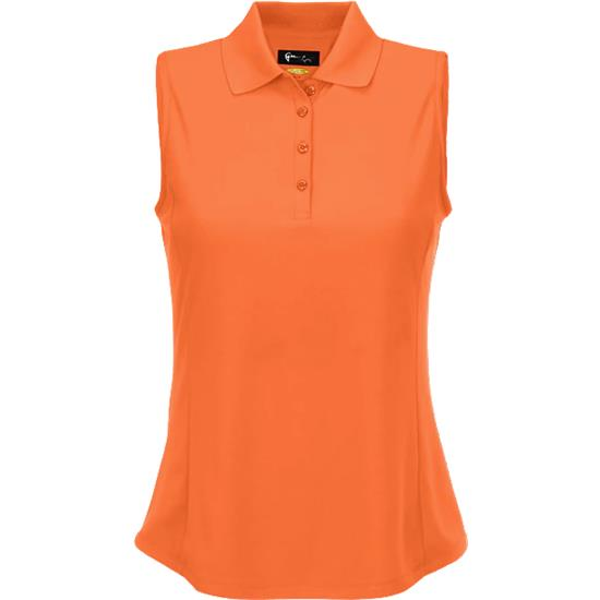 Greg Norman Protek Micro Pique Sleeveless Polo for Women