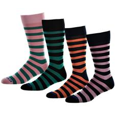 Kentwool Men's 19th Hole Stripe Crew Socks
