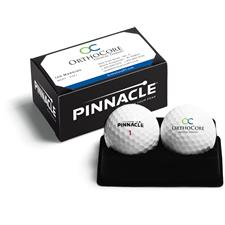 Pinnacle Custom Logo 2 Ball Business Card Box