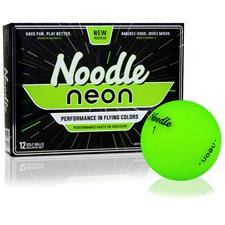 Taylor Made Custom Logo Noodle Neon Matte Lime Golf Balls