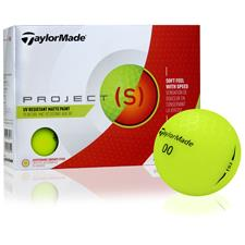 Taylor Made Project (s) Matte Yellow Personalized Golf Balls