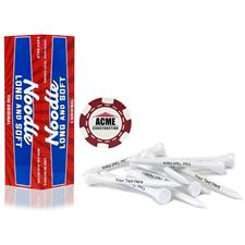 Taylor Made Custom Logo Noodle Long and Soft, Red Chip Marker and Tee Kit