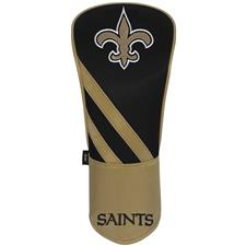 Team Effort NFL Individual Driver Headcover - New Orleans Saints - Black-Gold