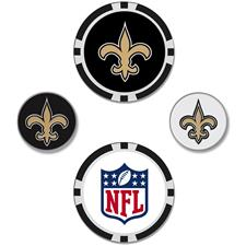 Team Effort NFL Set of 4 Ball Markers - New Orleans Saints