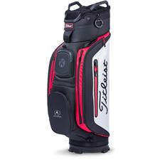 Titleist Club 14 Personalized Cart Bag - Black-White-Red