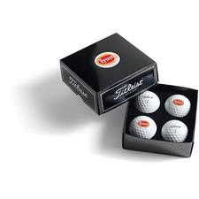 Titleist PackEdge Custom Dome Label 4-Ball Box