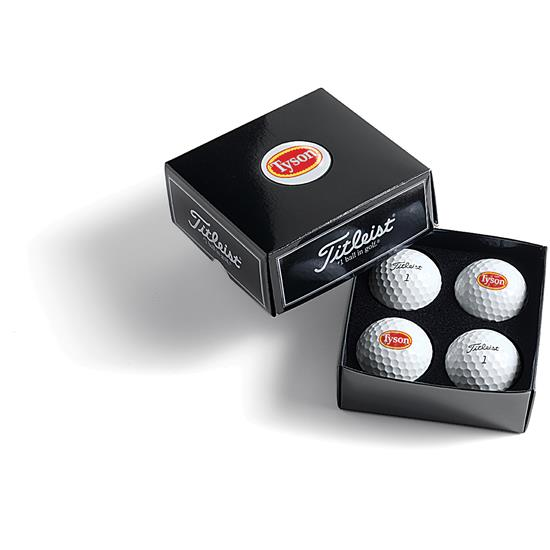 Titleist PackEdge Custom Dome Label 4-Ball Box