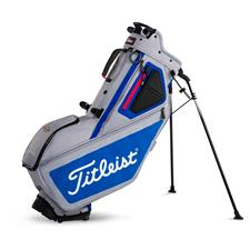 Titleist Players 5-Way Personalized Stand Bag - Sleet-Blue-Red