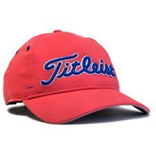 Titleist Men's Seersucker Personalized Hats - Red-Royal