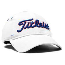 Titleist Men's Seersucker Personalized Hats - White-Royal