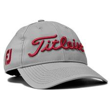Titleist Men's Tour Performance Grey Collection Hat - Grey-Maroon