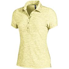 Under Armour Yellow Soul Zinger Heather Polo for Women
