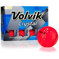 Volvik Crystal Ruby Red Personalized Golf Balls