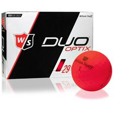 Wilson Staff Duo Optix Matte Red Custom Logo Golf Balls