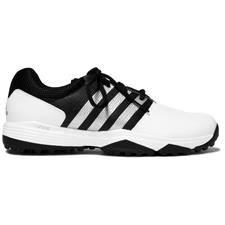 Adidas White-White-Core Black 360 Traxion Golf Shoes