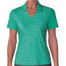 Adidas Hi Res Green Crossover Novelty Short Sleeve Polo for Women