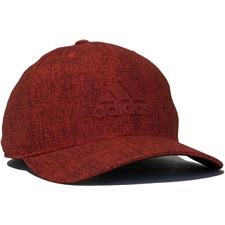 Adidas Men's Heather Print Snapback Personalized Hat - Hi-Res Red