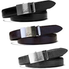 Arnold Palmer 35mm Croco Feather Edge Engraved Buckle Belt
