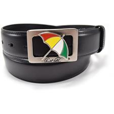 Arnold Palmer 35mm Feather Edge Umbrella Cut Out Belt - Black - Size 34