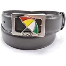 Arnold Palmer 35mm Feather Edge Umbrella Cut Out Belt - Grey - Size 36