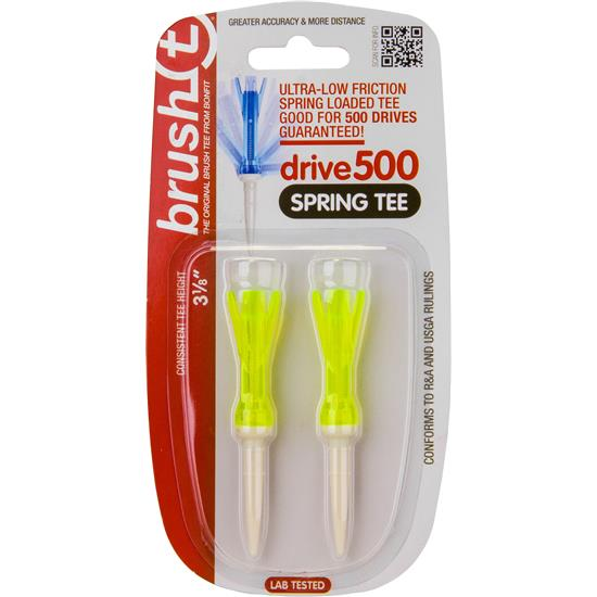 Brush t 3 1/8 Inch Spring Tee - 2 Pack