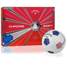 Callaway Golf Chrome Soft Truvis Stars and Stripes Golf Balls