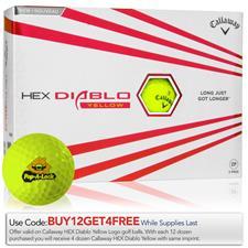 Callaway Golf Custom Logo HEX Diablo Yellow Golf Balls