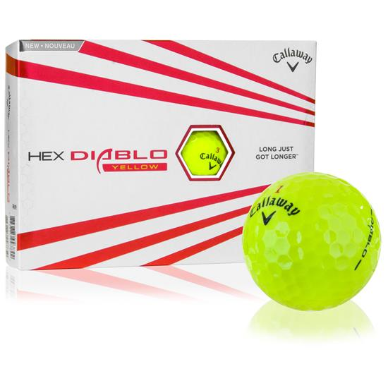 Callaway Golf HEX Diablo Yellow Golf Balls