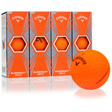 Callaway Golf Superhot Bold Matte Orange Custom Logo Golf Balls