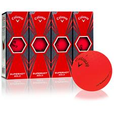 Callaway Golf Superhot Bold Matte Red Custom Logo Golf Balls