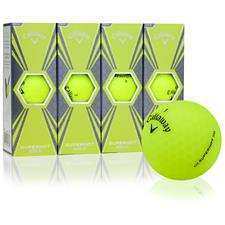 Callaway Golf Superhot Bold Matte Yellow Custom Logo Golf Balls